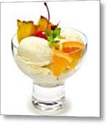 Ice Cream With Fruit Metal Print by Elena Elisseeva