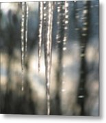 Icicle Art Fun 13 Metal Print by Debra     Vatalaro