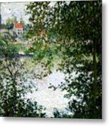 Ile De La Grande Jatte Through The Trees Metal Print by Claude Monet