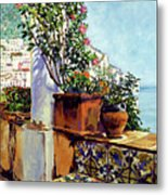 Impressions Of The Riviera Metal Print by David Lloyd Glover