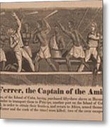 In 1839 Fifty-four African Captives Metal Print by Everett