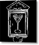 In Case Of Emergency - Drink Martini - Black Metal Print by Wingsdomain Art and Photography