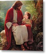 In His Light Metal Print by Greg Olsen