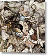 In The Duchesss Kitchen Metal Print by Arthur Rackham