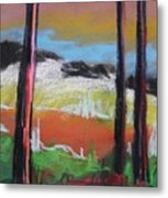 In The Park At Twilight Metal Print by John Williams