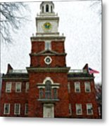 Independence Hall In Philadelphia Metal Print by Bill Cannon