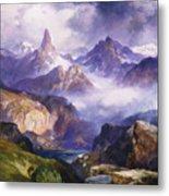 Index Peak Yellowstone National Park Metal Print by Thomas Moran