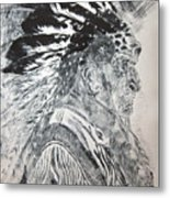 Indian Etching Print Metal Print by Lisa Stanley