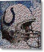 Indianapolis Colts Bottle Cap Mosaic Metal Print by Paul Van Scott