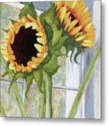 Indoor Sunflowers II Metal Print by Trina Teele