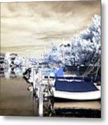 Infrared Boats At Lbi Metal Print by John Rizzuto