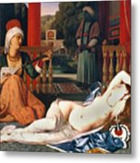Ingres: Odalisque Metal Print by Granger