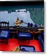 Inside Gondola In Venice Metal Print by Michael Henderson