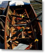 Inside Sail Boat Metal Print by Michael Henderson