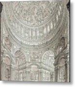 Interior Of Saint Pauls Cathedral Metal Print by John Coney