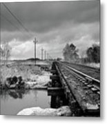 Into The Distance Metal Print by Matthew Angelo