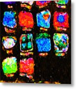 Iphone In Abstract Metal Print by Wingsdomain Art and Photography