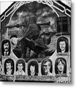 Ira Wall Mural Belfast Metal Print by Joe Fox