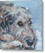 Irish Wolfhound Resting Metal Print by Lee Ann Shepard