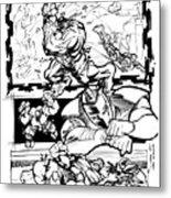 Ironman Vs Hulk Metal Print by Isaac Cordova