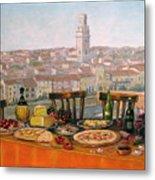 Italian Cityscape-verona Feast Metal Print by Italian Art