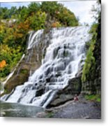 Ithaca Falls Metal Print by Christina Rollo