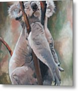 Its About Trust - Koala Bear Metal Print by Suzanne Schaefer
