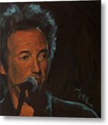 It's Boss Time - Bruce Springsteen Portrait Metal Print by Khairzul MG