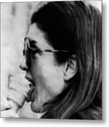 Jacqueline Kennedy Onassis Licks An Ice Metal Print by Everett