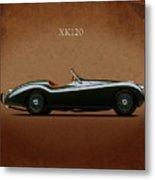 Jaguar Xk120 1949 Metal Print by Mark Rogan