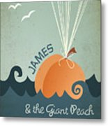 James And The Giant Peach Metal Print by Megan Romo