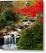 Japanese Garden Brook Metal Print by Jon Holiday