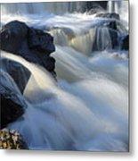 Jasper Falls Closeup Metal Print by Larry Ricker