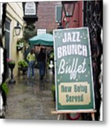 Jazz Brunch Metal Print by Linda Kish