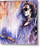 Jazz Miles Davis 14 Metal Print by Yuriy  Shevchuk