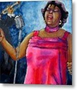 Jazzy Lady Metal Print by Linda Marcille