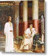 Jesus Being Interviewed Privately Metal Print by William Brassey Hole
