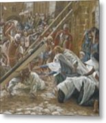 Jesus Meets His Mother Metal Print by Tissot