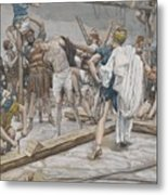 Jesus Stripped Of His Clothing Metal Print by Tissot