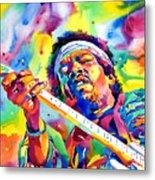 Jimi Hendrix Electric Metal Print by David Lloyd Glover