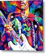 Jimi Hendrix Purple Metal Print by David Lloyd Glover