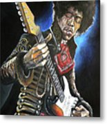 Jimi Hendrix Metal Print by Tom Carlton