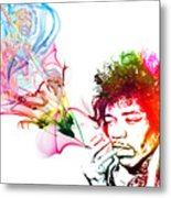 Jimmi Hendrix Metal Print by The DigArtisT
