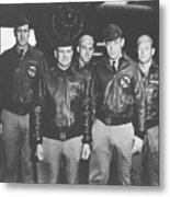 Jimmy Doolittle And His Crew Metal Print by War Is Hell Store