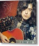 Jimmy Page Metal Print by Taylan Soyturk