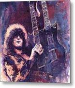 Jimmy Page  Metal Print by Yuriy  Shevchuk