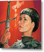 Joan Of Arc Metal Print by James Edwin McConnell