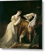 Joanna The Mad With Philip I The Handsome Metal Print by Louis Gallait
