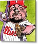 Joe Blanton -phillies Metal Print by Robert  Myers