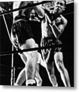 Joe Louis Delivers Knockout Punch Metal Print by Everett
